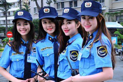 In áo đồng phục bảo vệ